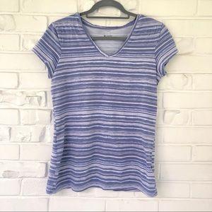 Columbia Striped Short Sleeve Tee Size Medium